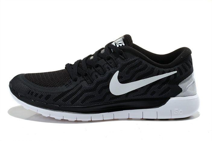 brand new 8065c 81bb0 Meilleur Nike Free Run 5.0 +2 Blanc Noir Chaussures Hommes