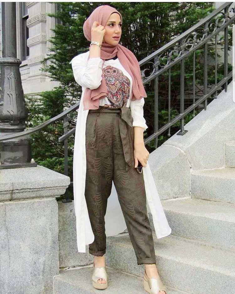 80 Fashion Hijab Casual Remaja Kekinian Simple Selebgram Model Baju Muslim Terbaru 2019 Kasual Model Pakaian Model Pakaian Remaja