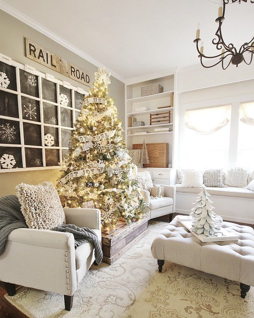 We are so excited to show off our Christmas tree beautiful decorated.m by @thistlewood. Head on over to her blog for more beautiful pics.  (: @thistlewood)