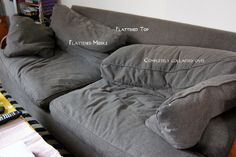 How To Fix Crumpled Sofa Back Cushions