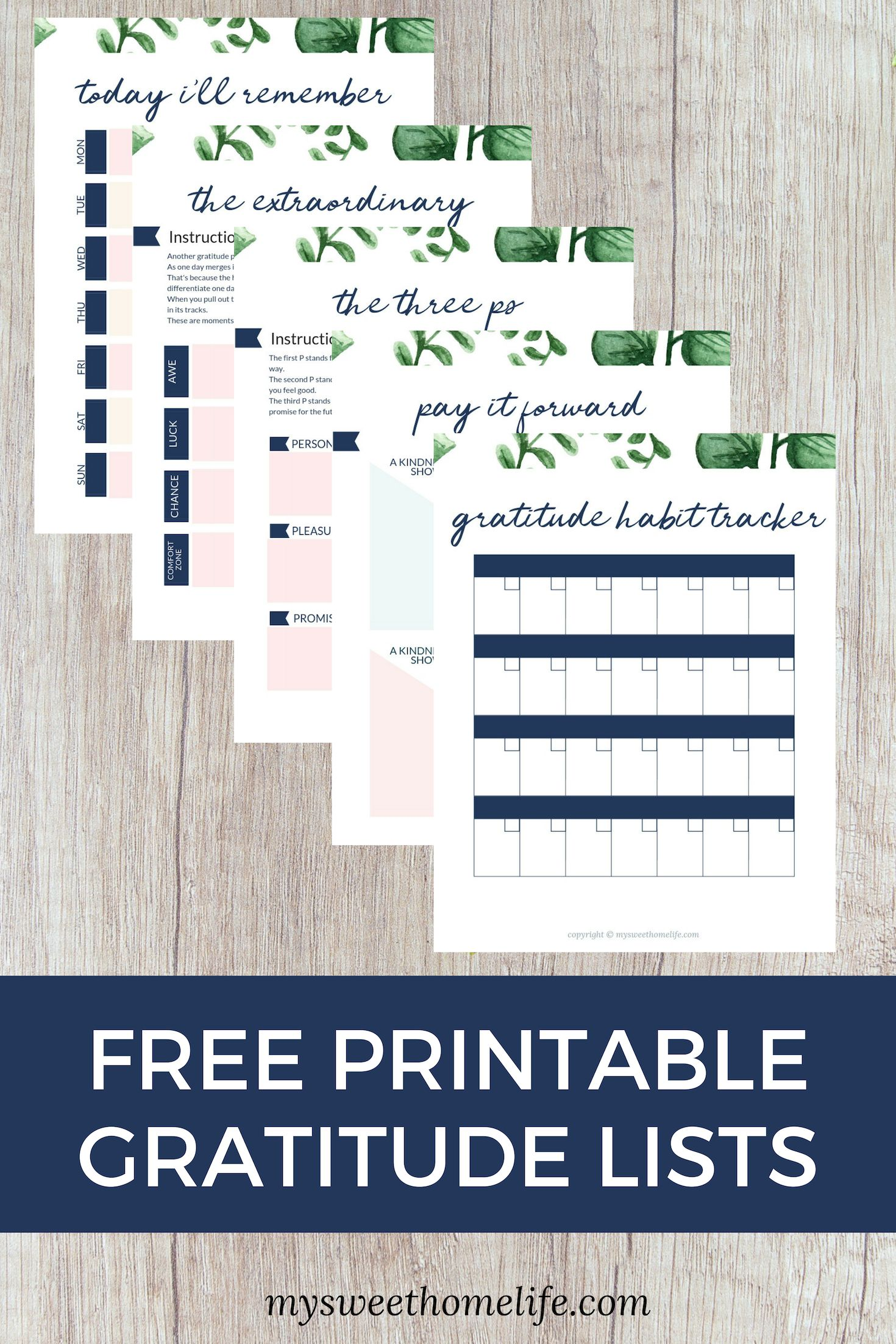 Things To Be Thankful For Daily Gratitude List Templates