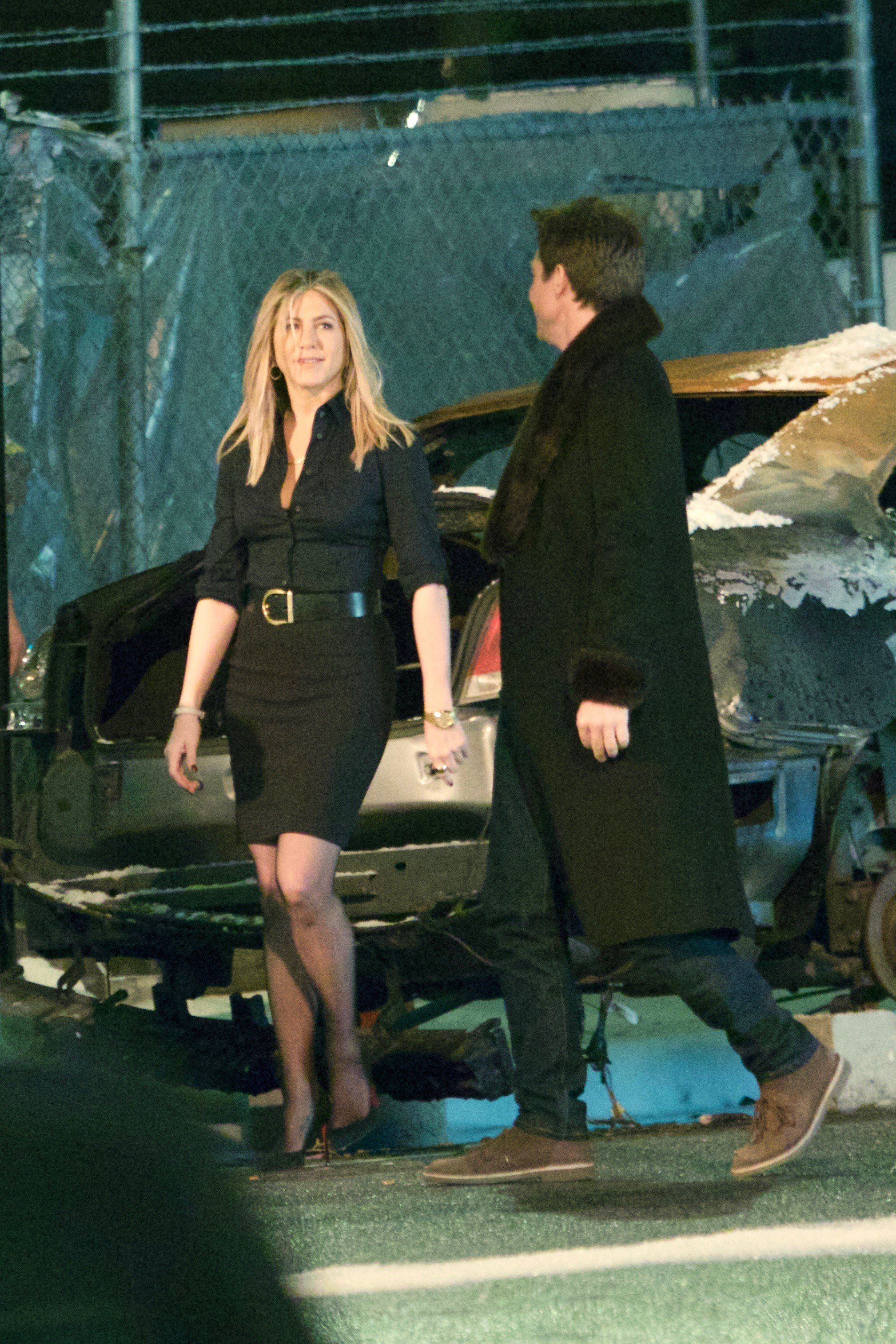 Jennifer Aniston on the set of \'Office Christmas Party\' in Atlanta 4 ...
