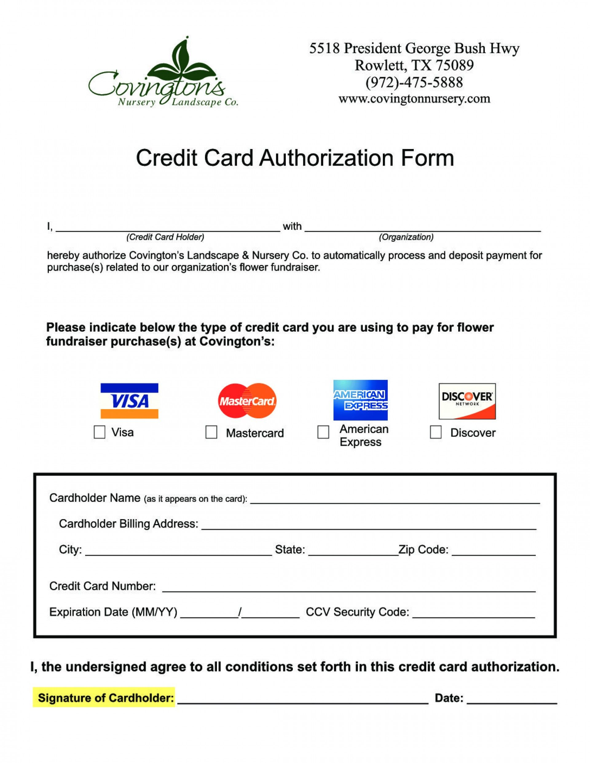 014 best western credit card authorization form part with