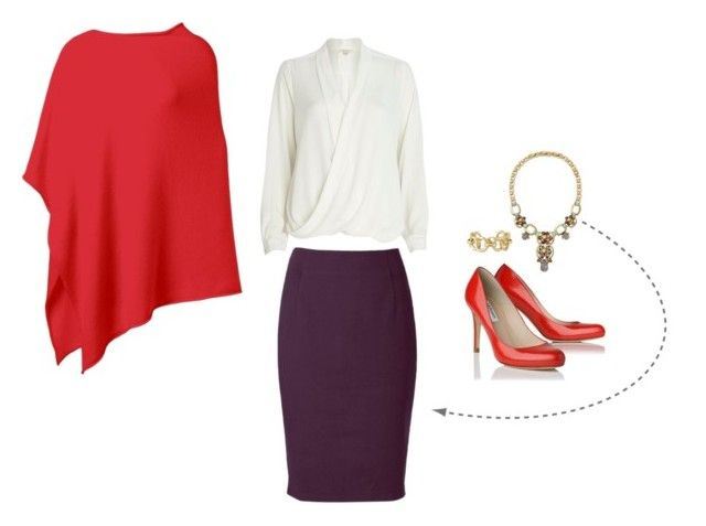 """""""Office Smart for Autumns"""" by kettlewellcolours ❤ liked on Polyvore featuring Stila, Stella & Dot and River Island"""