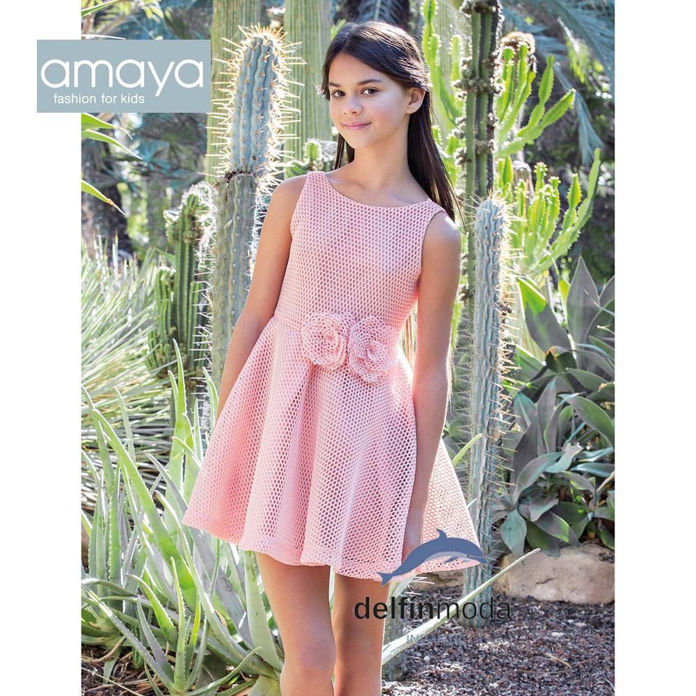 Vestido de ceremonia AMAYA 2018 niña juvenil modelo 111724 | 2018 ...