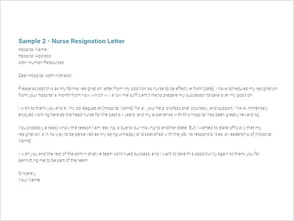 6 Sample Immediate Resignation Letter Templates Doc Free
