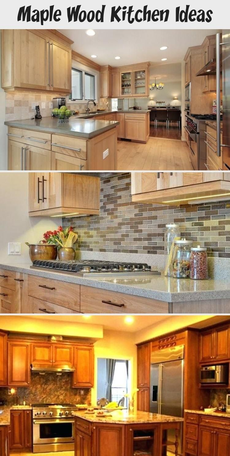 Maple Wood Kitchen Ideas Ktchn In 2020 Maple Kitchen Maple Kitchen Cabinets Small Kitchen Redo
