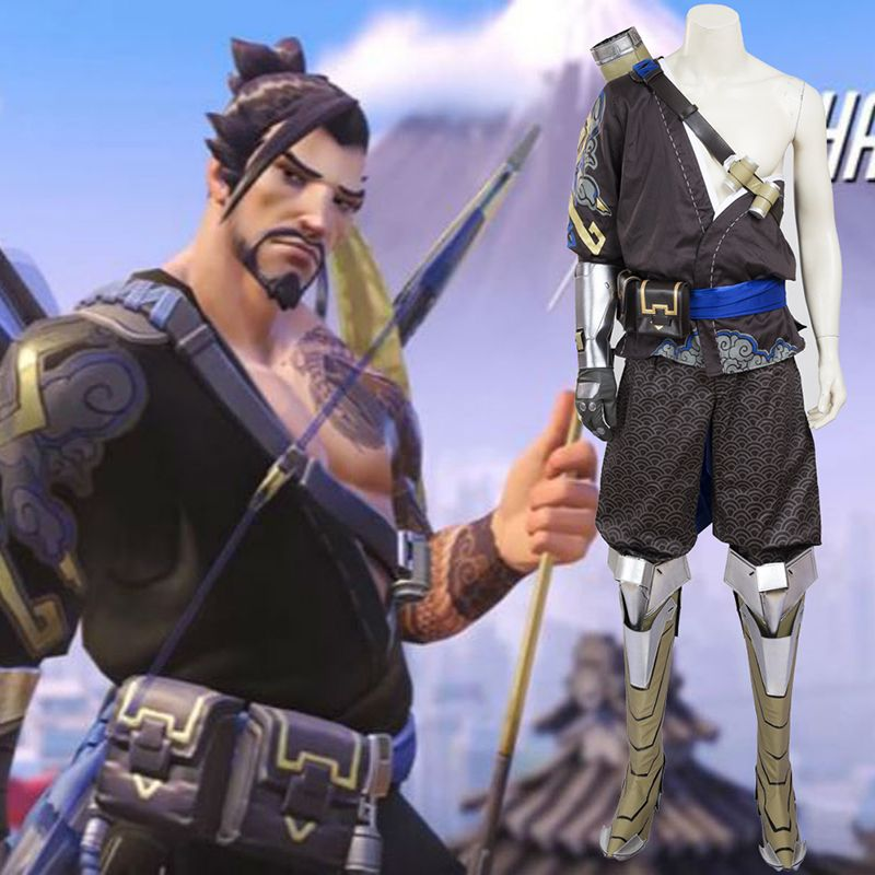 Overwatch Hanzo Genji Cosplay Game Costumes OW Full Set | Overwatch ...