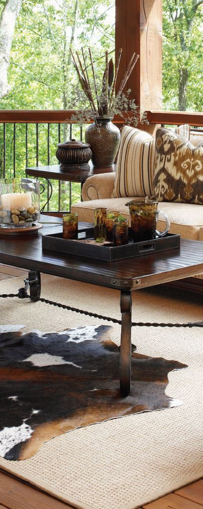 Rustic Cherry Rectangular Table Formal Dining Room Set: Lexington Fieldale Lodge Coffee Table