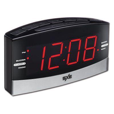 SXE LED Alarm Clock Radio - SXE86007   Products   Led alarm