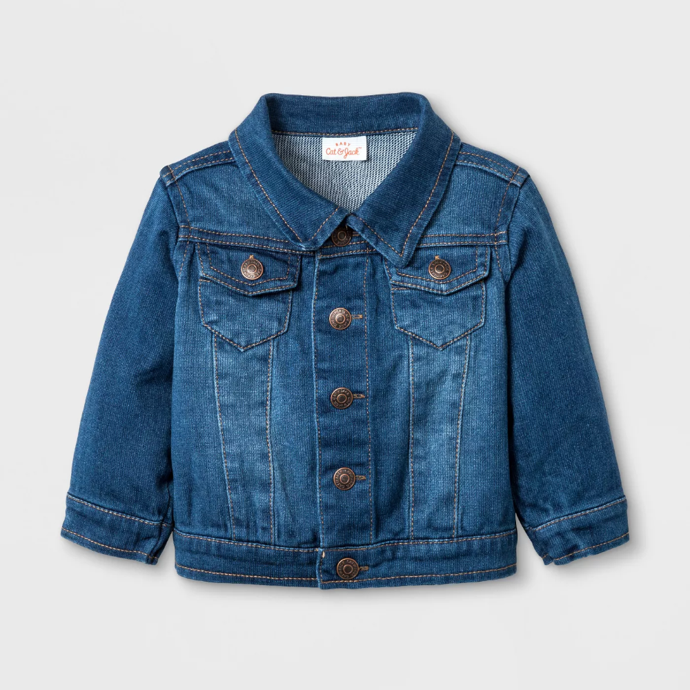 Baby Jean Jacket Cat Jack Denim Wash 0 3m Target Jean Jacket For Girls Baby Jeans Denim Wash [ 1000 x 1000 Pixel ]
