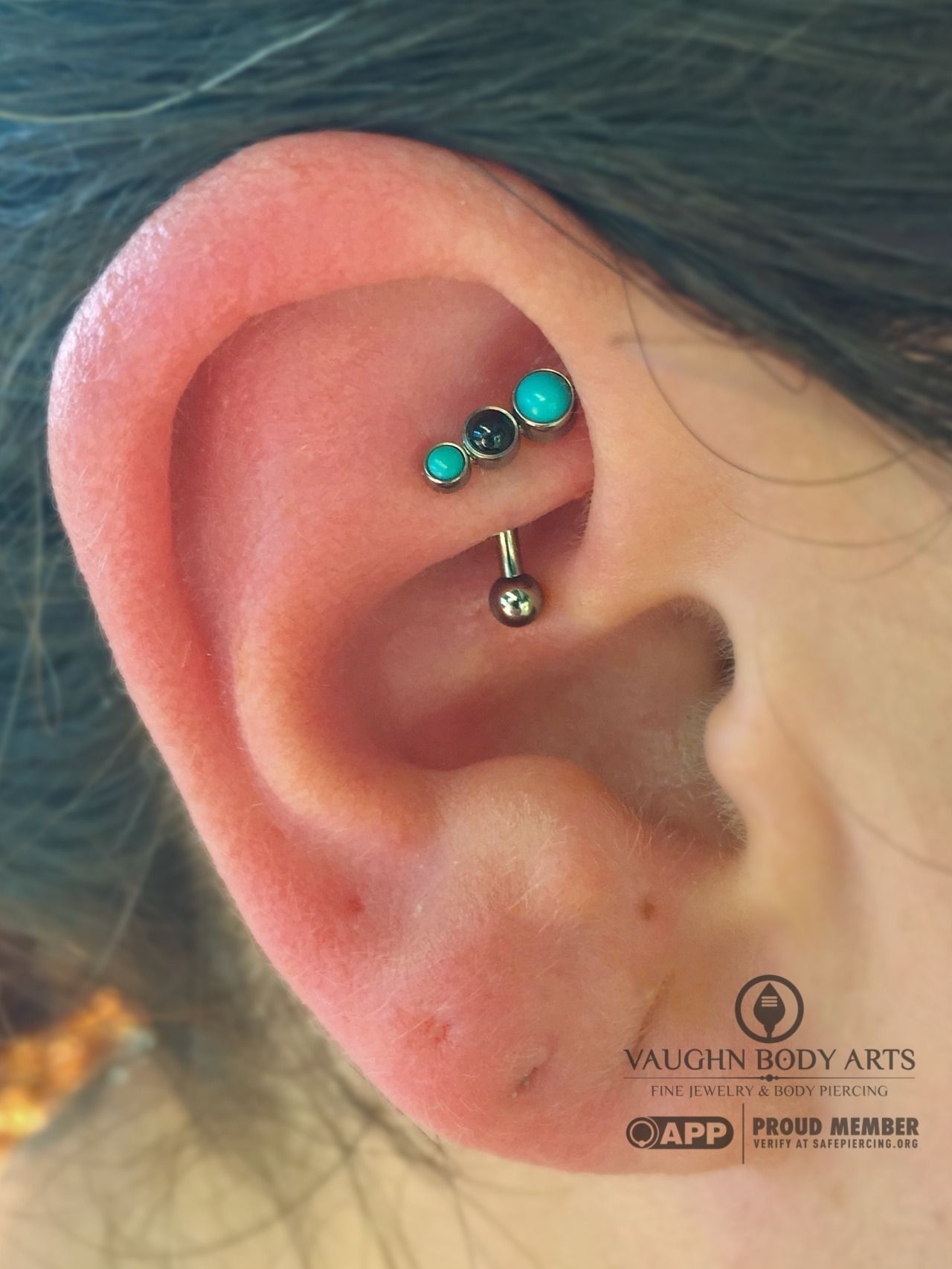 Body piercing areas  Nicolette had us pierce her rook and we are just loving the jewelry