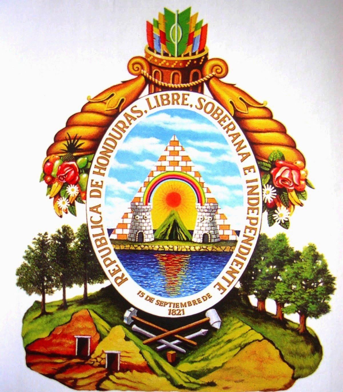 La Belleza Que Esconde El Escudo Nacional De Honduras Bandera De Honduras Olimpia Honduras Republica De Honduras