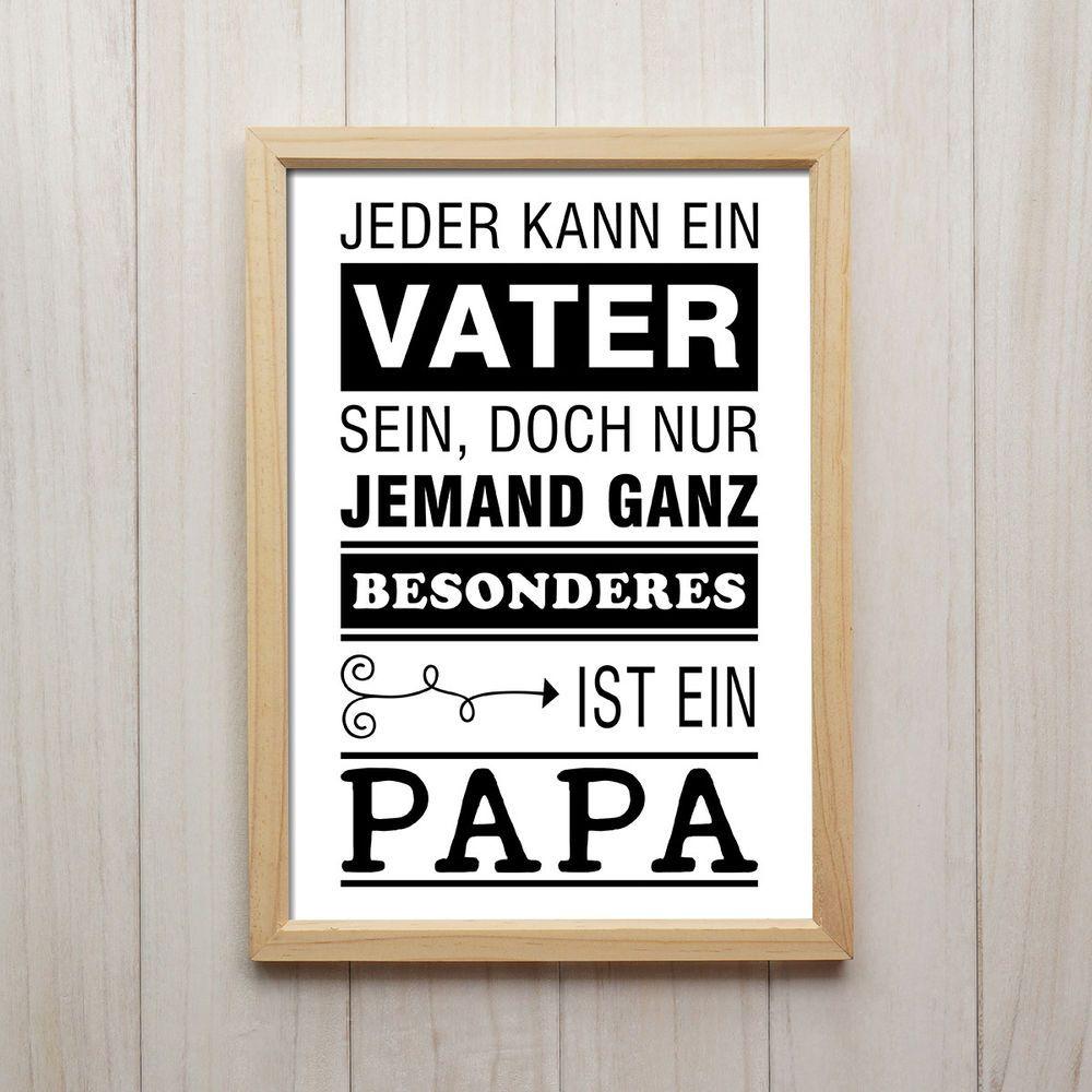 Nur Jemand Besonderes Ist Ein Papa Kunstdruck A4 Familie