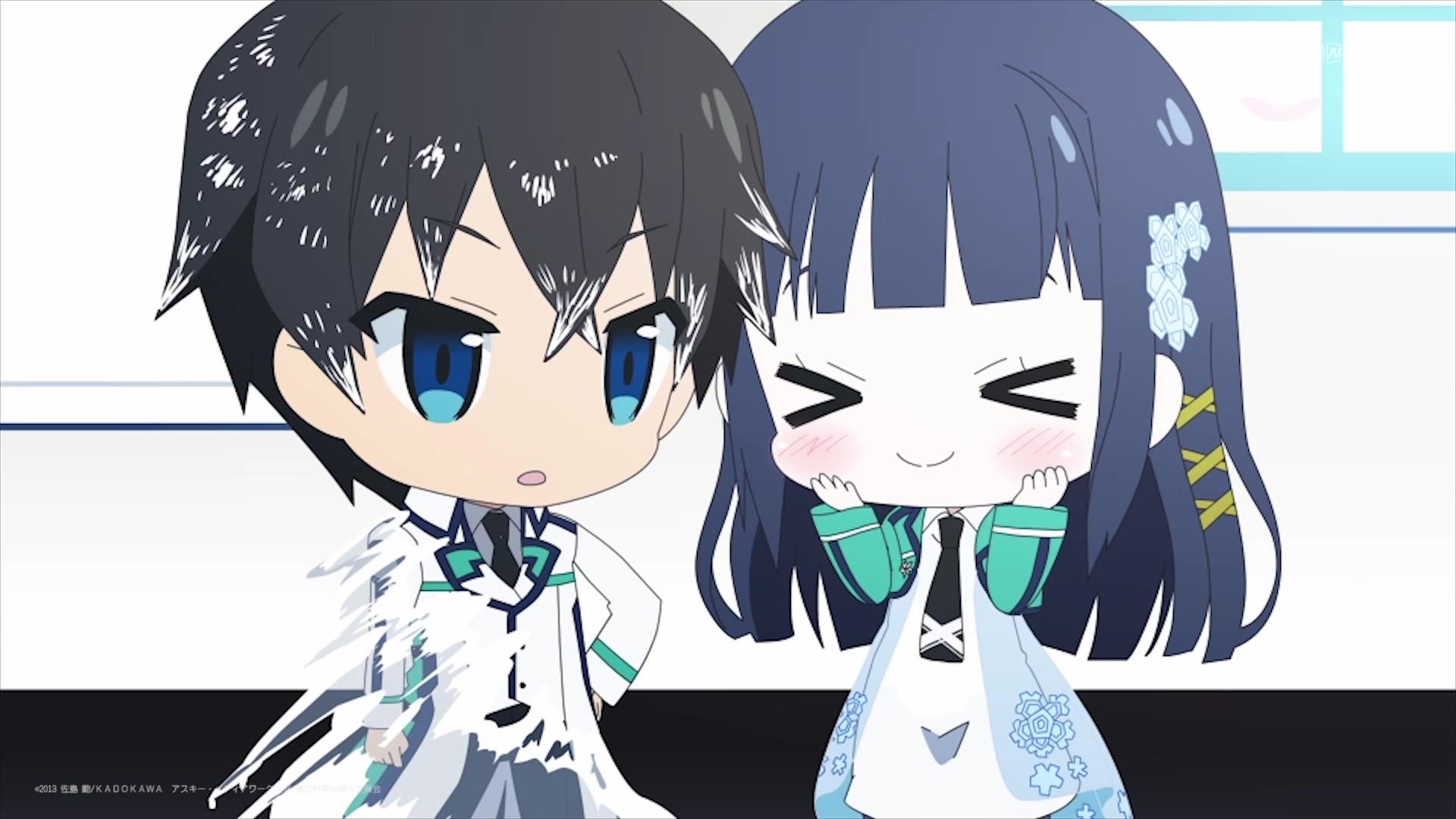 Mahouka Koukou No Rettousei Miyuki And Tatsuya Chibi