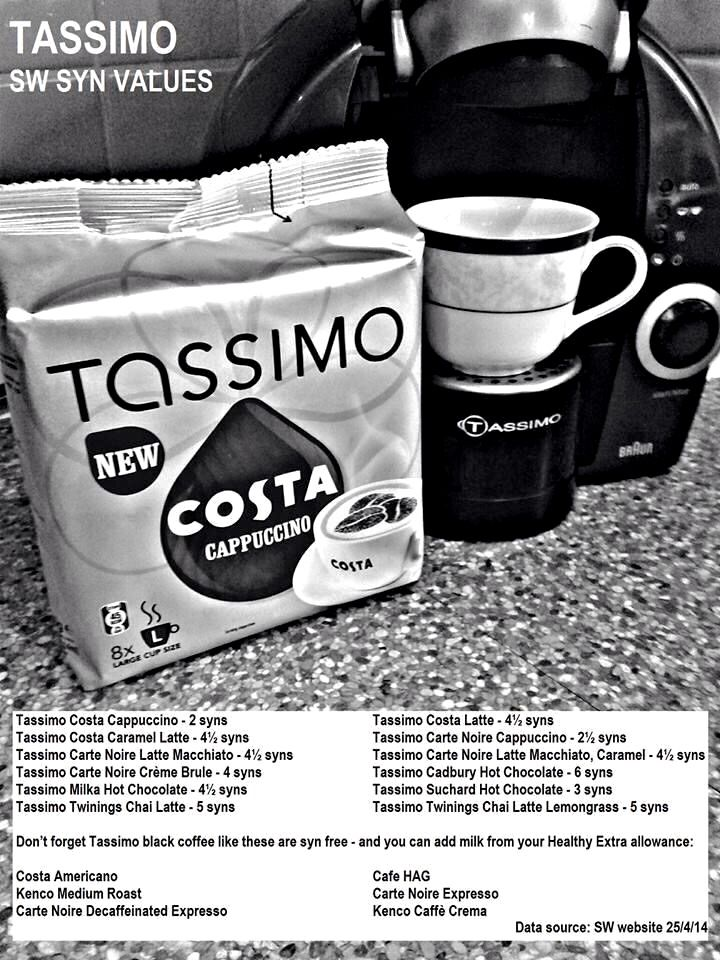 Tassimo Syns Slimming World Treats Slimmimg World