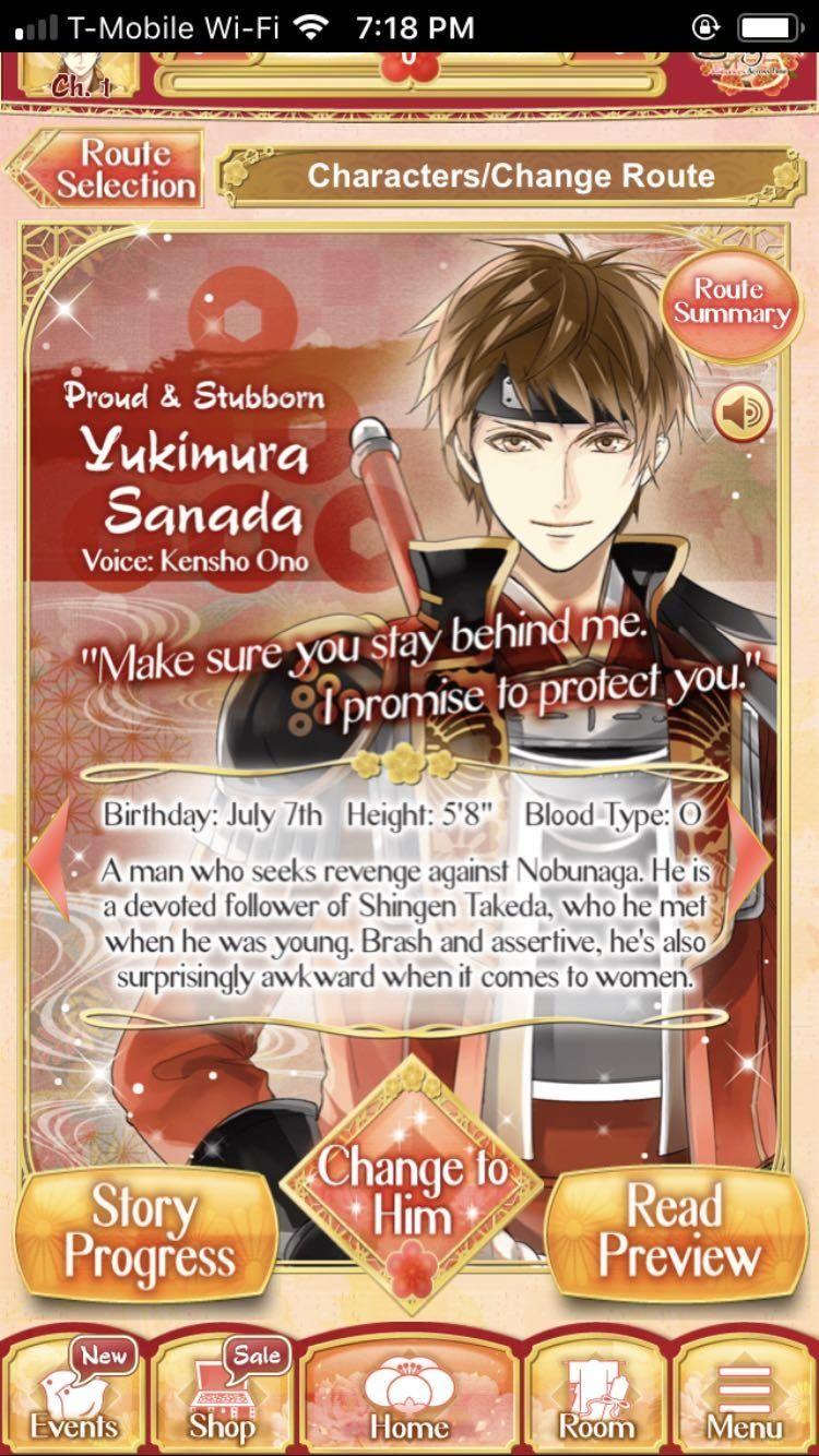 Ikemen sengoku yukimura sanada p1 in 2020 character