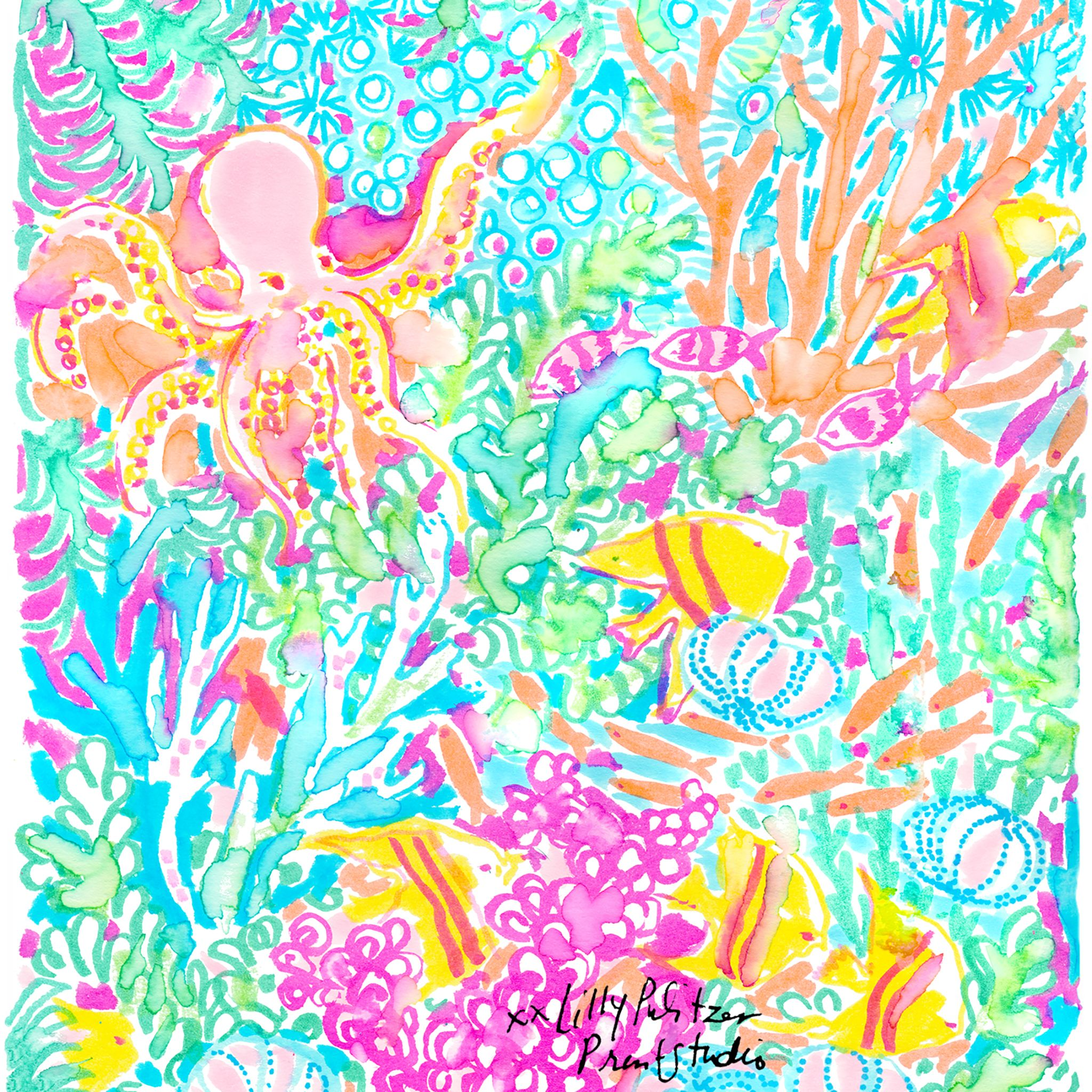 Fishing For Something Lilly 5x5 Lilly Pulitzer Prints