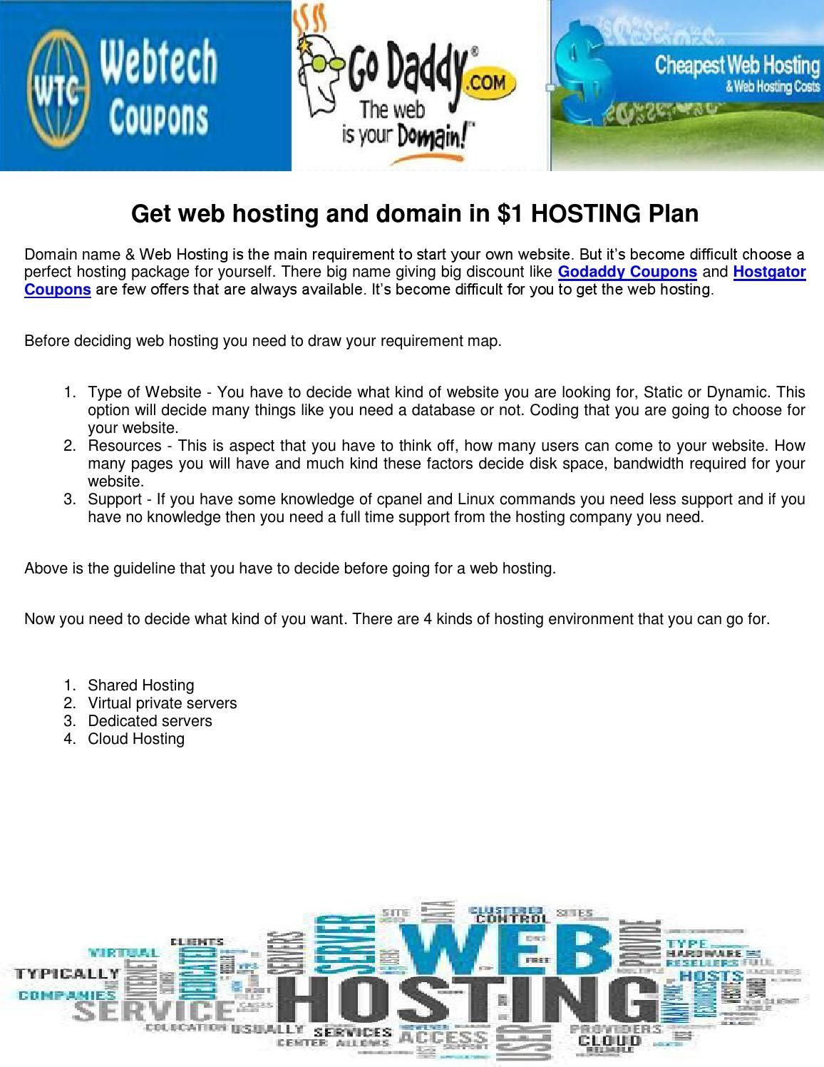 Cheapest web hosting and domain   Cheap web hosting, Hosting ...