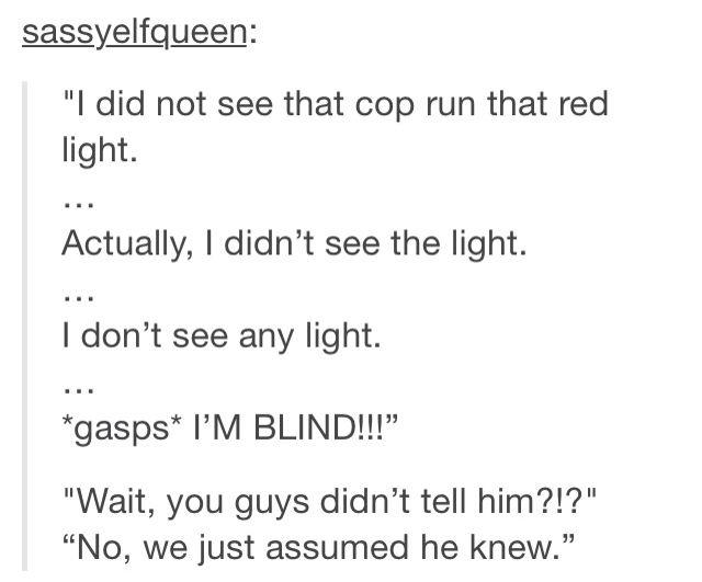 Humorous tumblr thing.