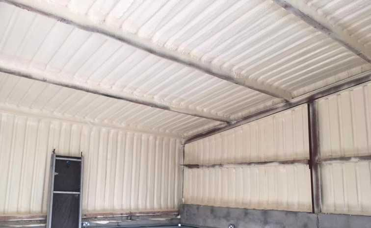 Metal Shed Insulated With Closed Cell Spray Foam Spray Foam Metal Shed County Offaly