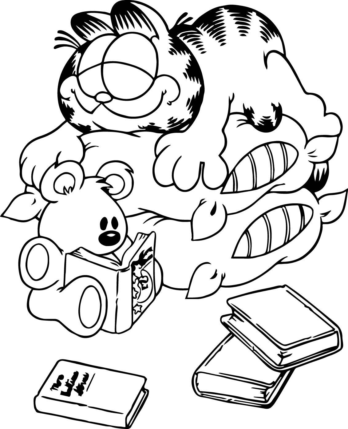Garfield Coloring Pages | Coloring Garfield | Pictures of Garfield ...