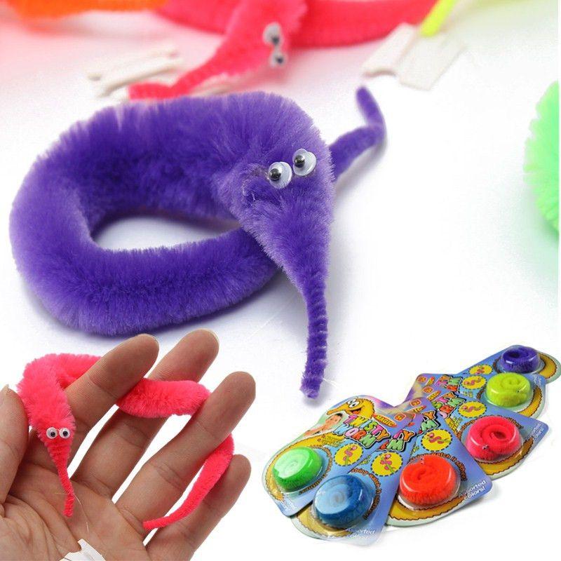Lovely Soft Wiggle Worm Kids Plush Toy Magic Twisty Fuzzy Trick