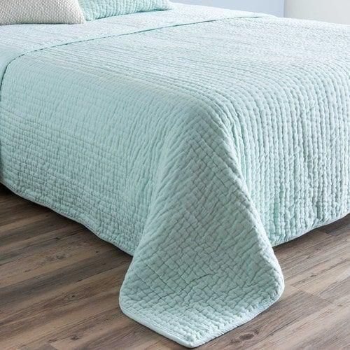 Cubrecamas de piqué de terciopelo verde agua 240x260 cm | COSAS DE ...