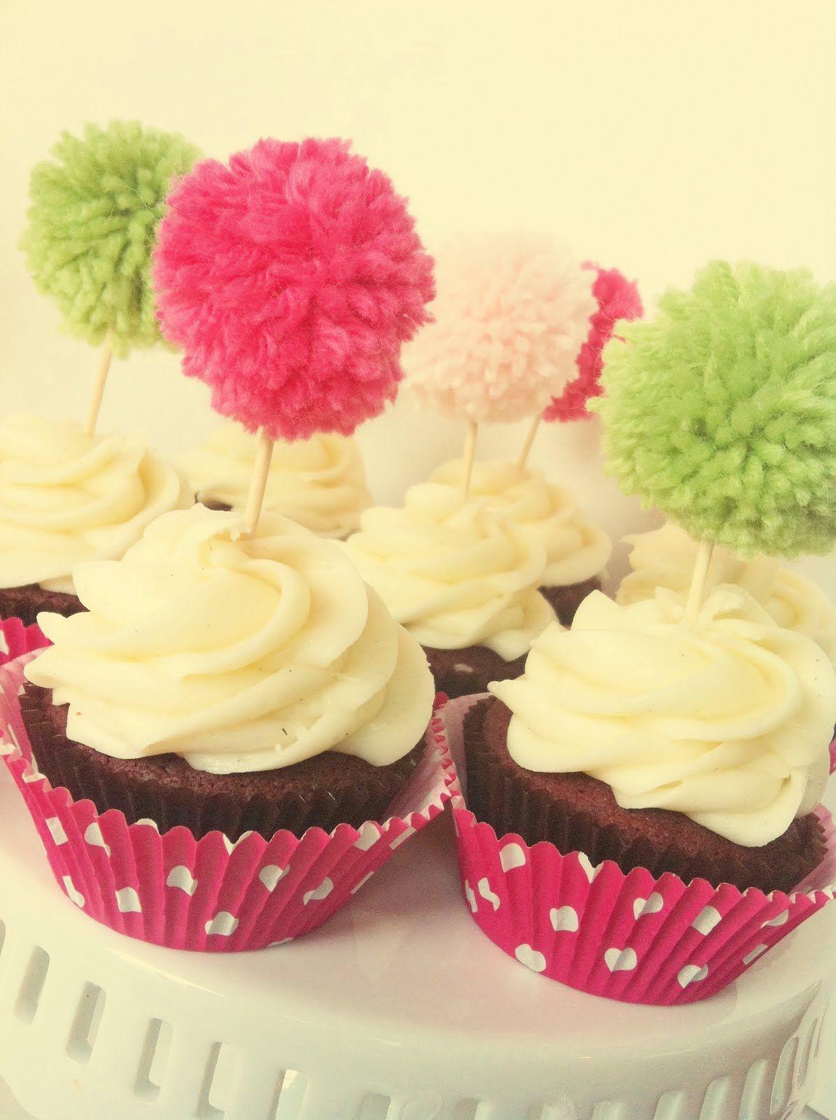 Pom Pom Cupcake Toppers And Cake Toppers Bodas De Pompom