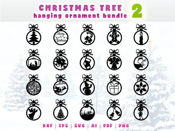 Christmas ornaments set  Christmas tree hanging ornament vector kit