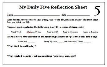 Here Is A Free Daily  Reflection Sheet For Students That We Use