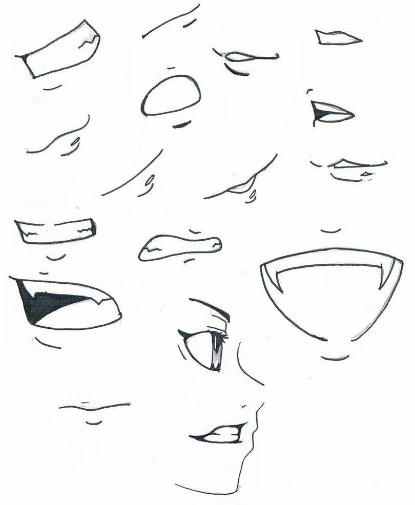 Pin By B1z4rr0 On Teeth Drawing Tips Anime Mouth Drawing Nose Drawing