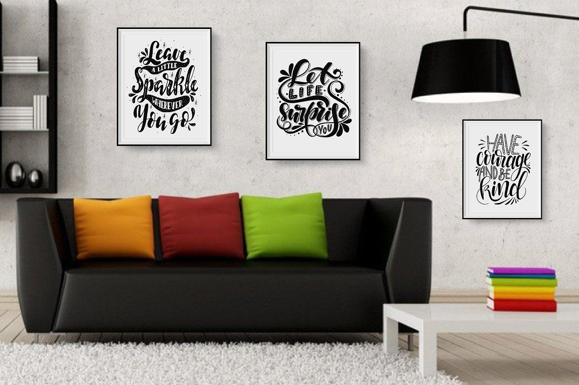 Motivational Quotes Quote Poster Pack Set Collection