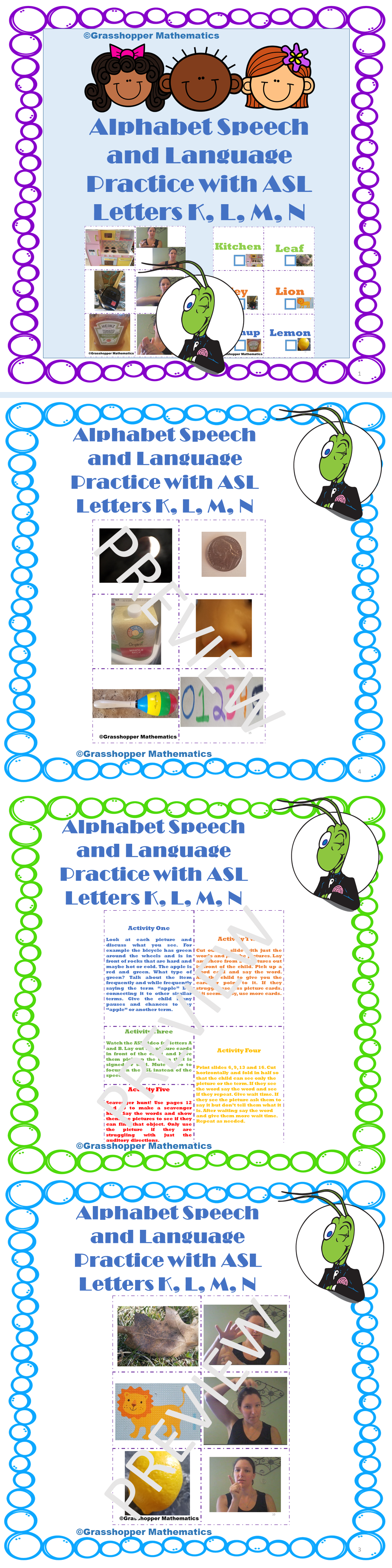 Alphabet Speech And Language Sign Language Activities
