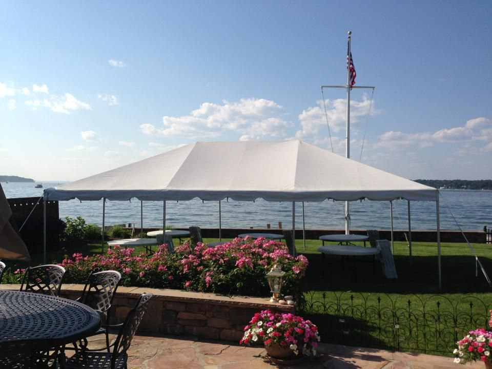 20x30 White Pole tent overlooking the Long Island Sound. - Call us @ Avenue Party & 20x30 White Pole tent overlooking the Long Island Sound. - Call us ...