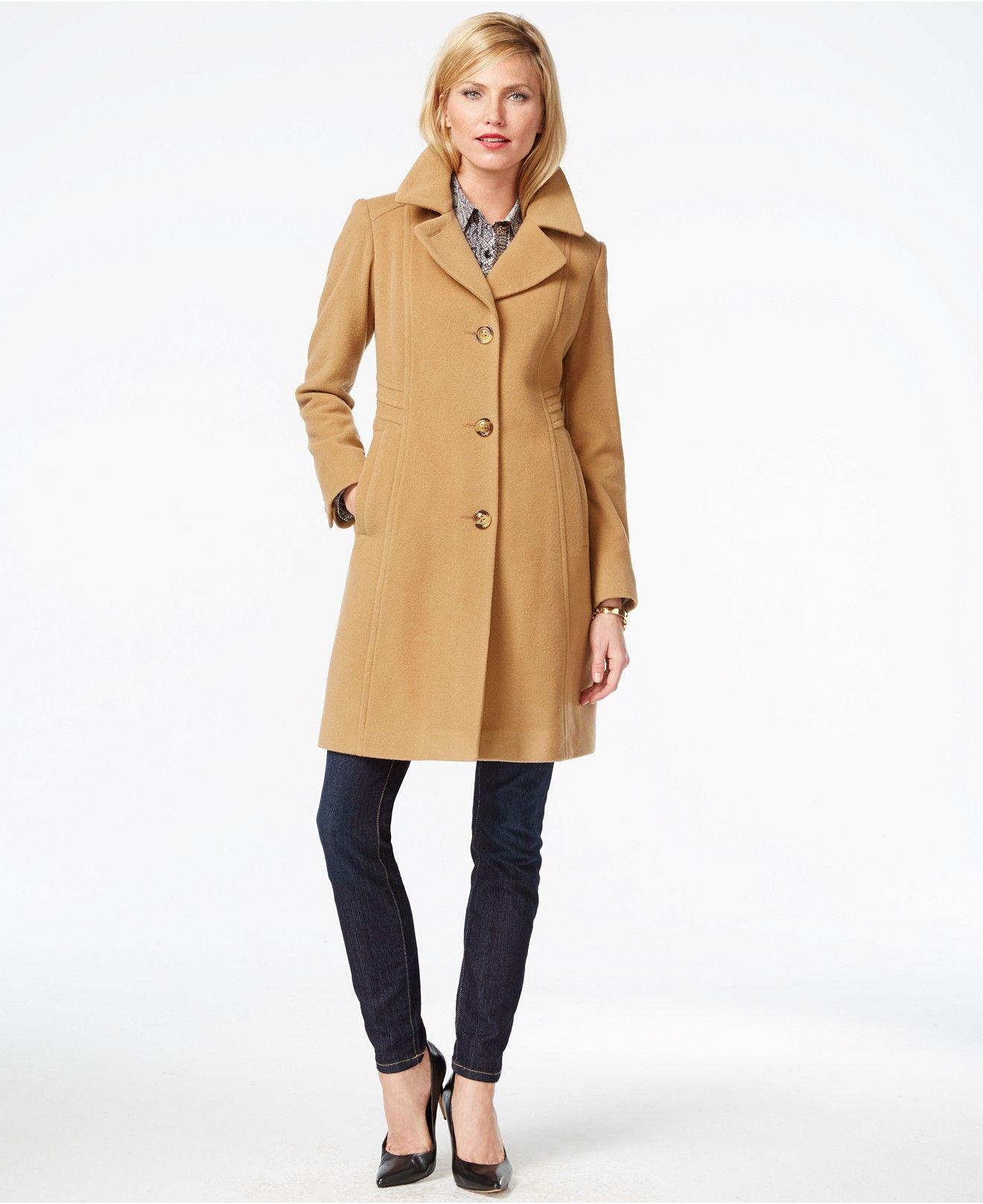 Anne Klein Petite Wool Cashmere Walker Coat Coats Women Macy S Coats For Women Coat Fashion [ 1616 x 1320 Pixel ]
