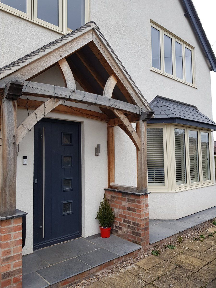 R7 In Clotted Cream With Solidor Front Door Modern Renovation Windows Flushcasement Exterior House Remodel Gray House Exterior Facade House