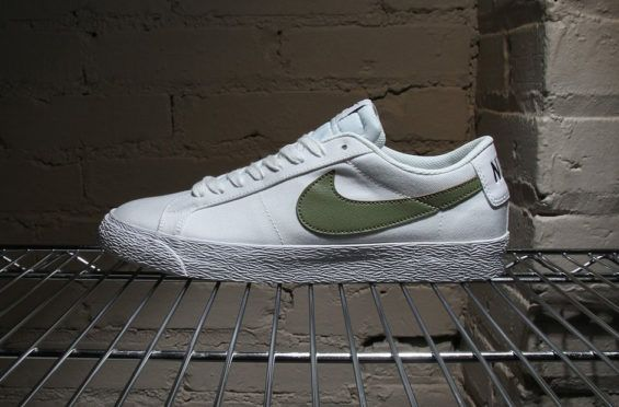 Classic Canvas Construction On The Nike SB Blazer Low