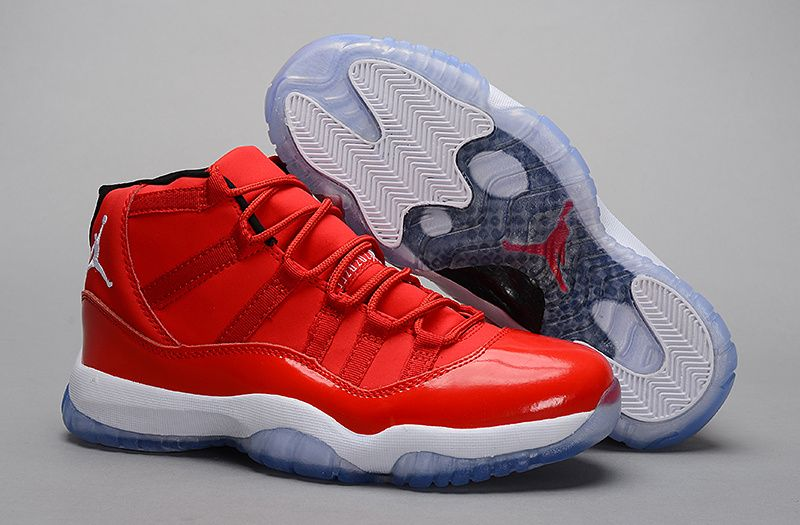 nike air jordan 11 (XI) retro shoes men-red/white