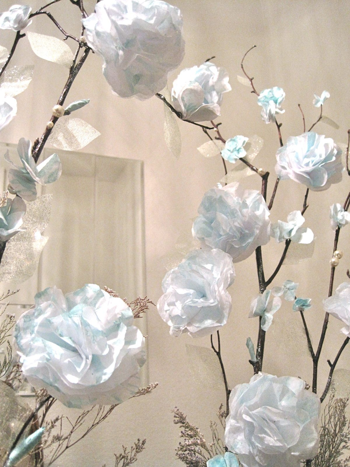 Tissue paper centerpiece | Five Dollar Centerpieces + Paper ...