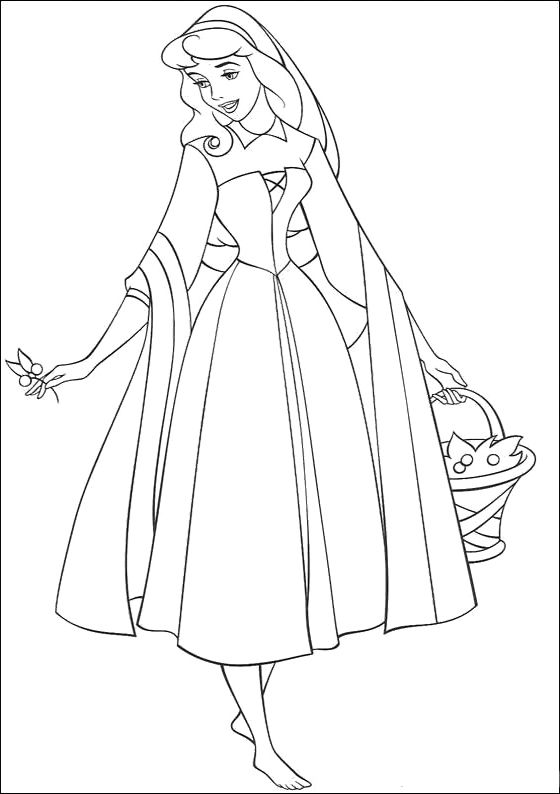 Coloring Pages Princess Aurora Walt Disney Characters Sleeping