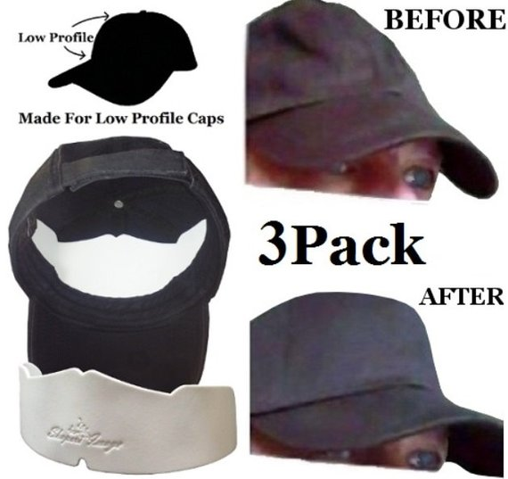 094fa0a9c 3Pk. Manta Ray Low Profile Baseball Caps Crown Inserts| Fitted Caps Inserts|  Sport Cap Shaper| Snapb