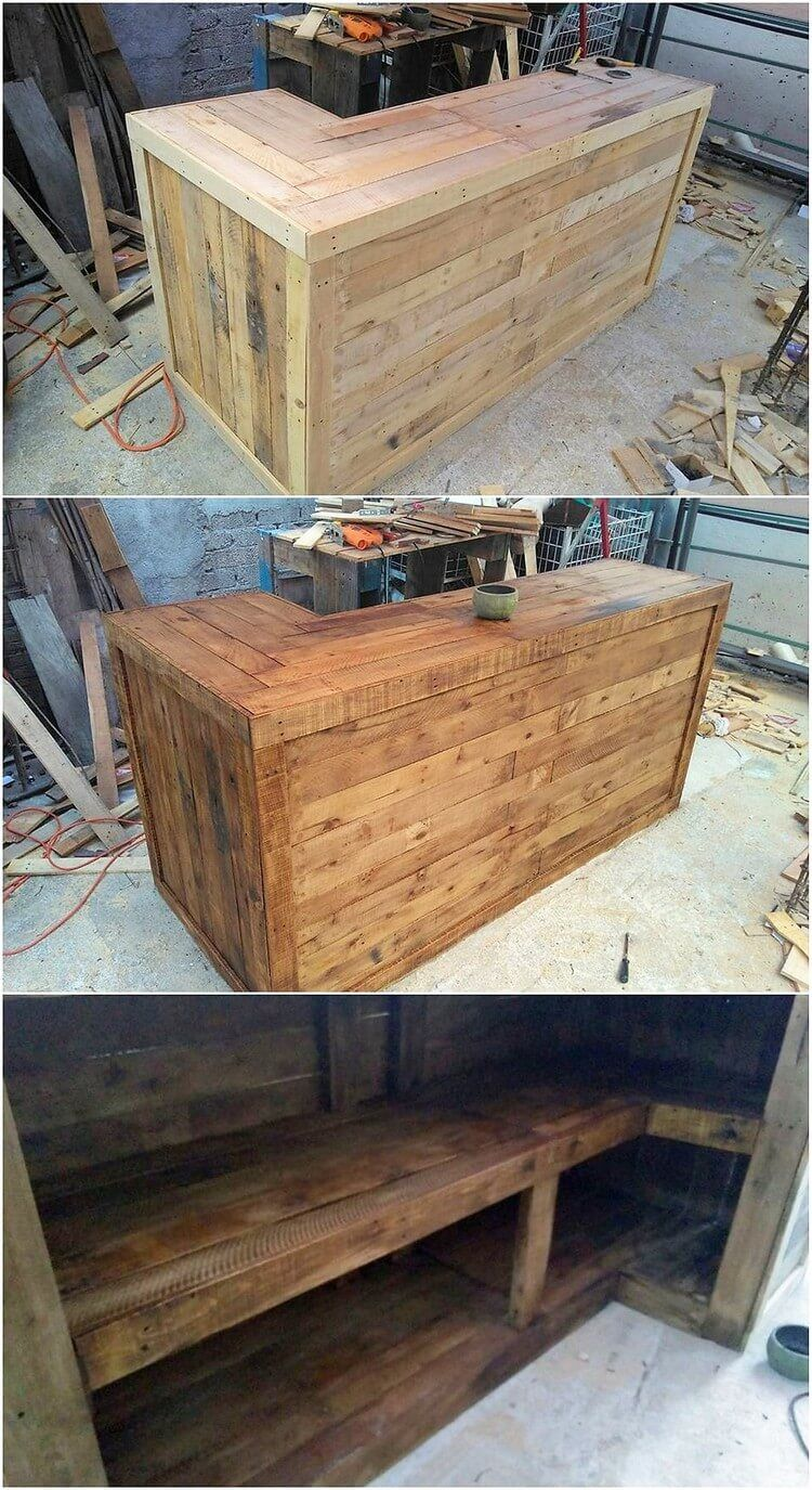 heart touching fresh wood pallets reusing ideas pallet counter