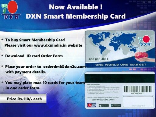 Dxn Smart Membership Card Now Available For Dxn India  Business