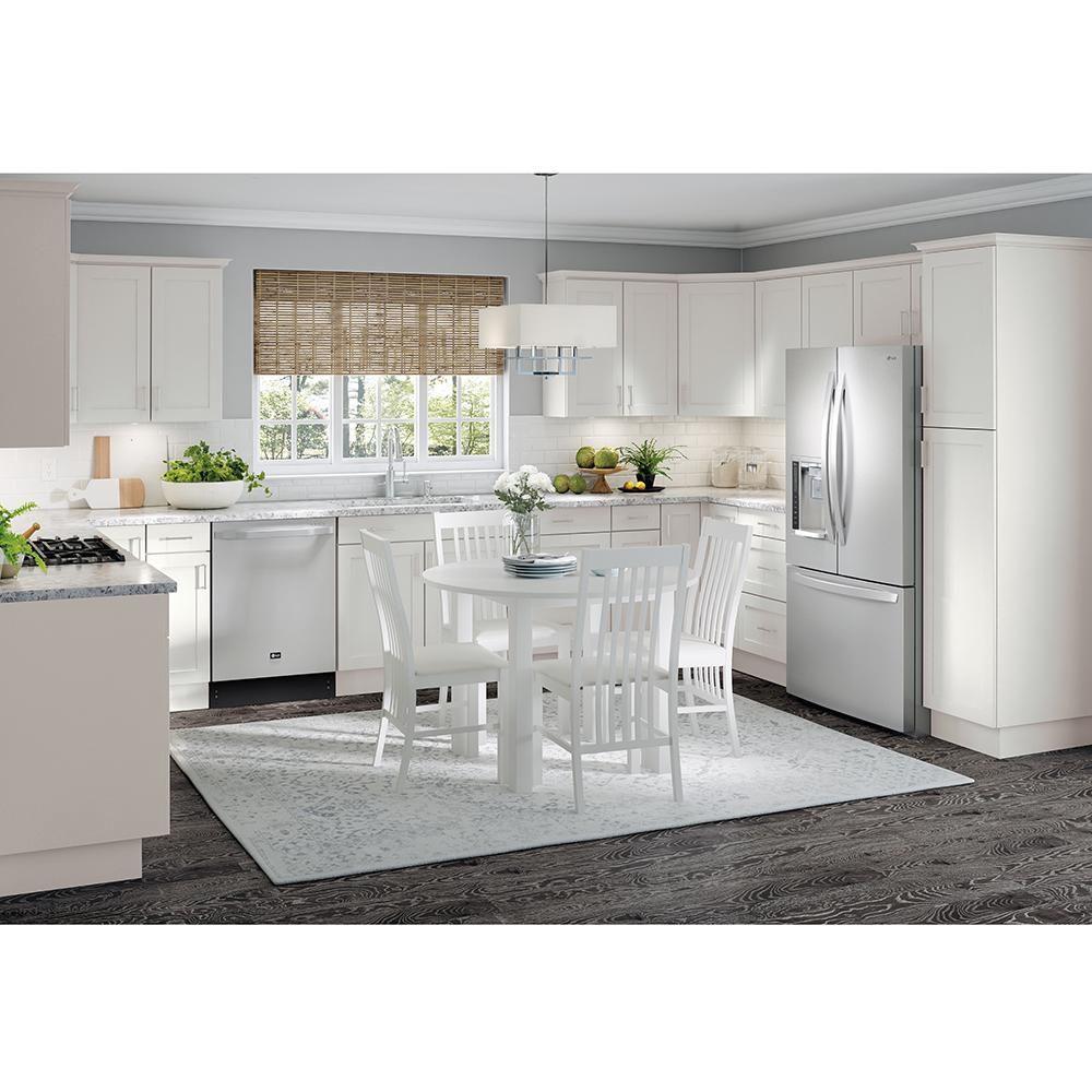 hampton bay cambridge assembled 24x36x12 5 in corner wall cabinet in white stock kitchen on kitchen cabinets corner id=15391