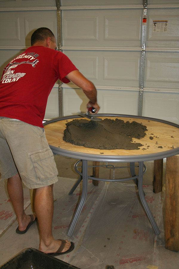 Concrete Table Top For Your Patio