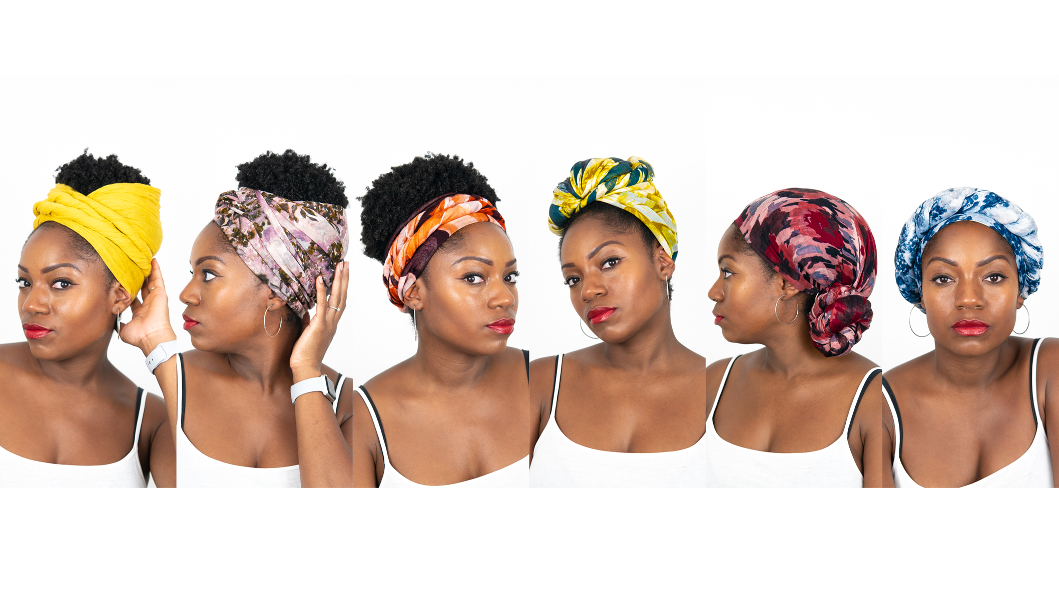 quick u easy ways to tie a head scarf or head wrap natural hair