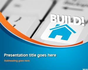 house real estate powerpoint template for presentations on real