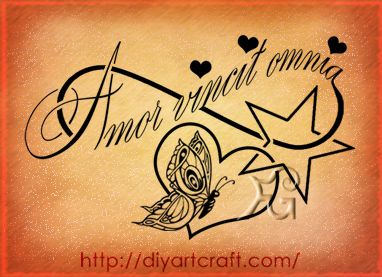 Amor Vincit Omnia Tattoo Love Conquers All Minus The Hearts And