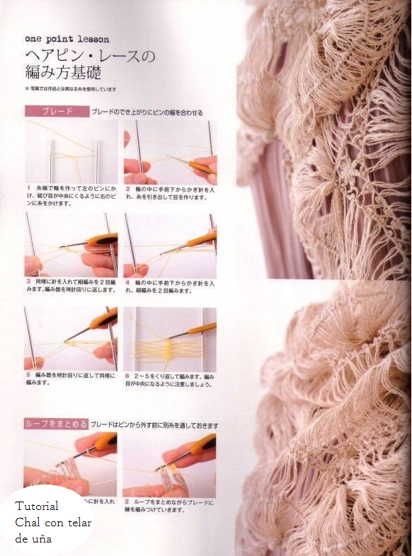 Chal con Telar Paso a Paso - Patrones Crochet   Knitting - Crochet ...